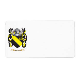Isaacs Coat of Arms (Family Crest) Shipping Label