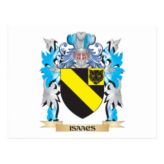 Isaacs Coat of Arms - Family Crest Post Card