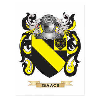 Isaacs Coat of Arms (Family Crest) Postcard