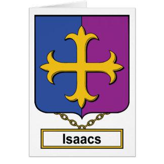 Isaacs Family Crest Card