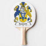 Isaacson Family Crest Ping-Pong Paddle