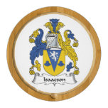 Isaacson Family Crest Round Cheese Board