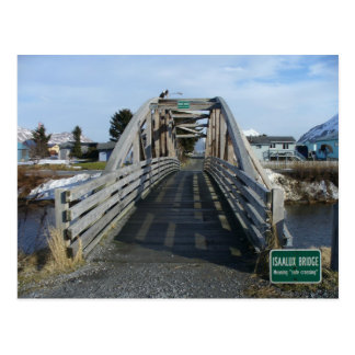 Isaalux Bridge in the City of Unalaska, AK Postcard