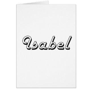 Isabel Classic Retro Name Design Greeting Card