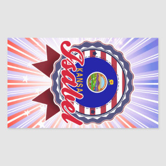 Isabel, KS Rectangular Sticker