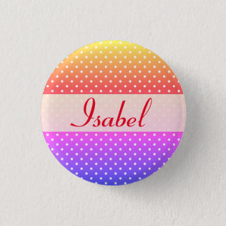 Isabel name plate Anstecker Button