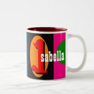 Isabel personalizó la taza conocida
