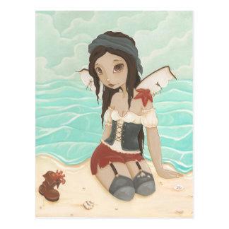 Isabel - postal de la sirena del pirata
