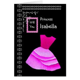 ISABEL - sea mi florista con el vestido ROSADO Tarjeta