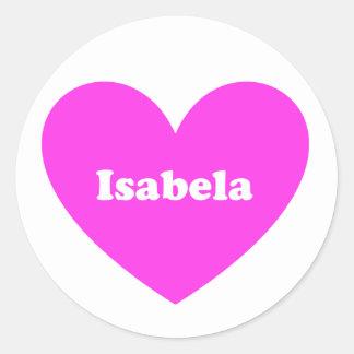 Isabela Classic Round Sticker