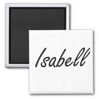 Isabell artistic Name Design 2 Inch Square Magnet