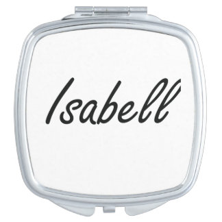 Isabell artistic Name Design Vanity Mirror