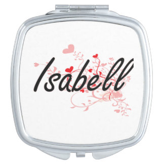 Isabell Artistic Name Design with Hearts Mirrors For Makeup