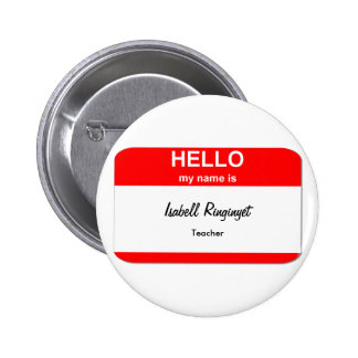 Isabell Ringinyet Pinback Button