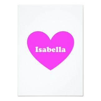 Isabella 5x7 Paper Invitation Card
