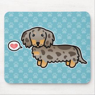 Isabella And Tan Dapple Long Coat Dachshund Dog Mouse Pad
