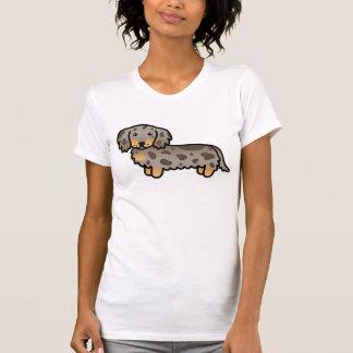 Isabella And Tan Dapple Long Coat Dachshund Dog Tee Shirt