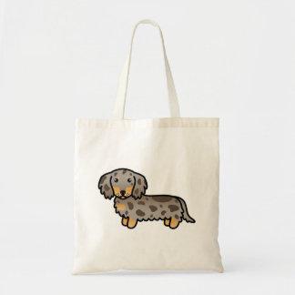 Isabella And Tan Dapple Long Coat Dachshund Dog Tote Bag