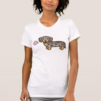 Isabella And Tan Dapple Smooth Coat Dachshund Love Tee Shirt