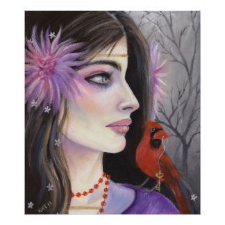 Isabella and the Cardinal Poster