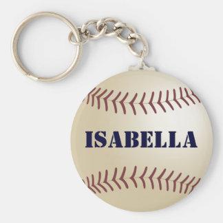 Isabella Baseball Keychain by 369MyName