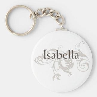 Isabella Basic Round Button Keychain