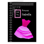 ISABELLA - Be My Flower Girl with PINK Dress Greeting Card