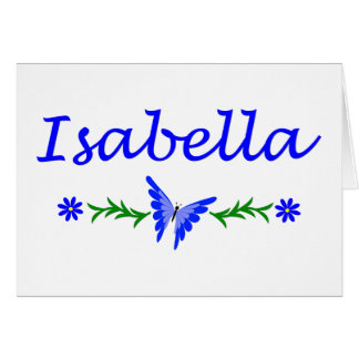 Isabella (Blue Butterfly) Card
