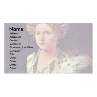 Isabella Dâ € ™ Estedeutsch: Portrait Of Isabella Double-Sided Standard Business Cards (Pack Of 100)