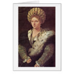 Isabella D'Este Marchioness Of Mantua By Titian Greeting Cards