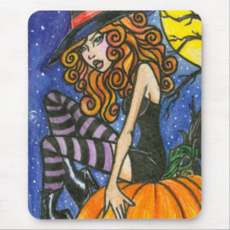 Isabella : Halloween Witch Mousepad