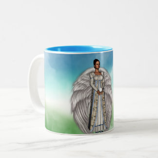 Isabella in the Clouds Two-Tone Coffee Mug