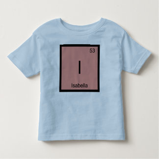 Isabella  Name Chemistry Element Periodic Table Toddler T-shirt
