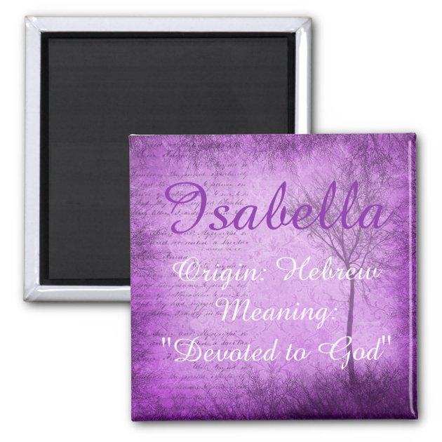 Isabella Personalised Name Meaning Keyring