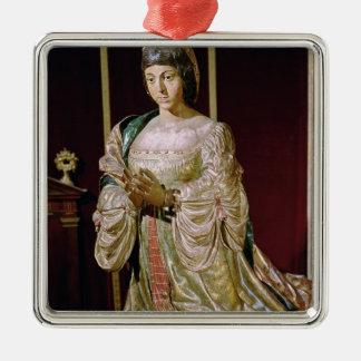 Isabella of Castile  in Prayer, 1520-22 Metal Ornament