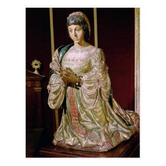 Isabella of Castile  in Prayer, 1520-22 Postcard