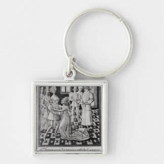 Isabella of France, Queen of England Silver-Colored Square Keychain