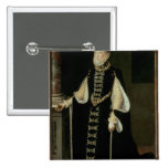 Isabella of Valois, Queen of Spain 2 Inch Square Button