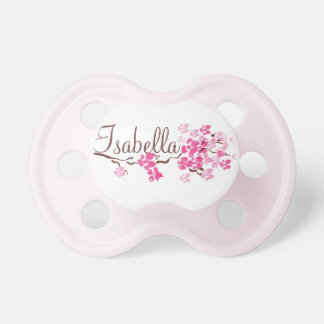 """""""Isabella"""" Personalized Cherry Blossom Pacifier"""