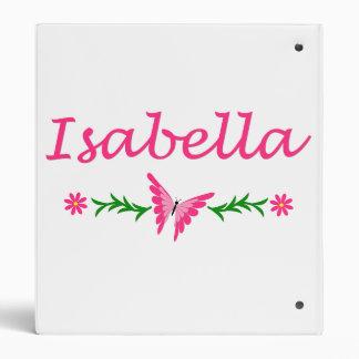 Isabella (Pink Butterfly) Binder
