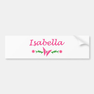 Isabella (Pink Butterfly) Bumper Sticker