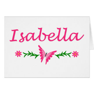 Isabella (Pink Butterfly) Card