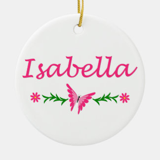 Isabella (Pink Butterfly) Ceramic Ornament