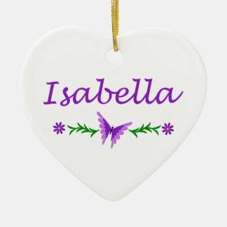 Isabella (Purple Butterfly) Ceramic Ornament