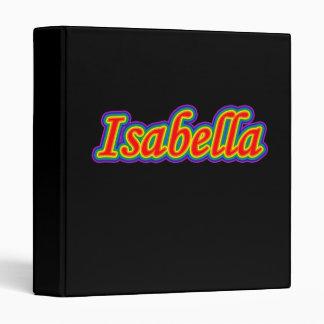 Isabella - Rainbow - On Black Binder