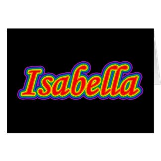 Isabella - Rainbow - On Black Card