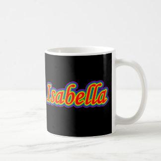 Isabella - Rainbow - On Black Coffee Mug