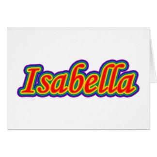 Isabella - Rainbow - On White Card