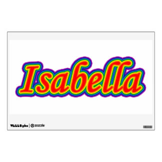 Isabella - Rainbow - On White Room Decal