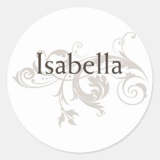 Isabella Round Sticker